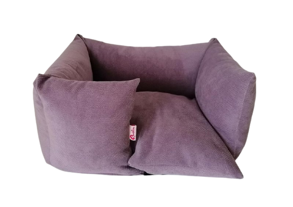 Hundebett Sofa - handgefertigt - Lilac