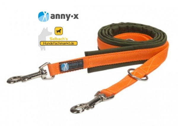Annyx Hundeleine olive/orange