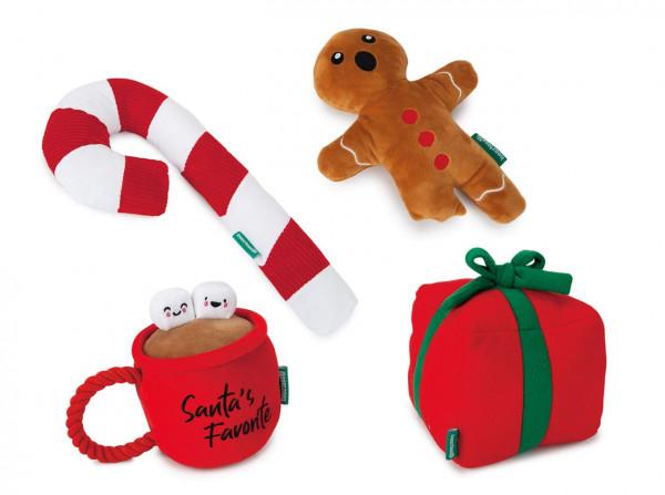 Weihnachtsspielzeug Plüsch von Beeztees - Weihnachtsspielzeug für Hunde