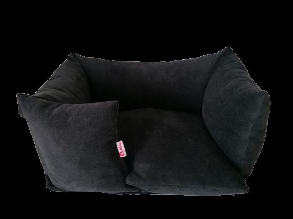 Hundebett Sofa - handgefertigt - Onyx