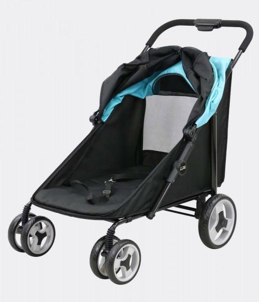 "InnoPet® Hundebuggy ""Mammut"" - schwarz/blau"