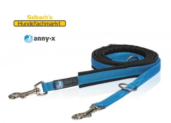 AnnyX gepolsterte Führleine blau - schwarz