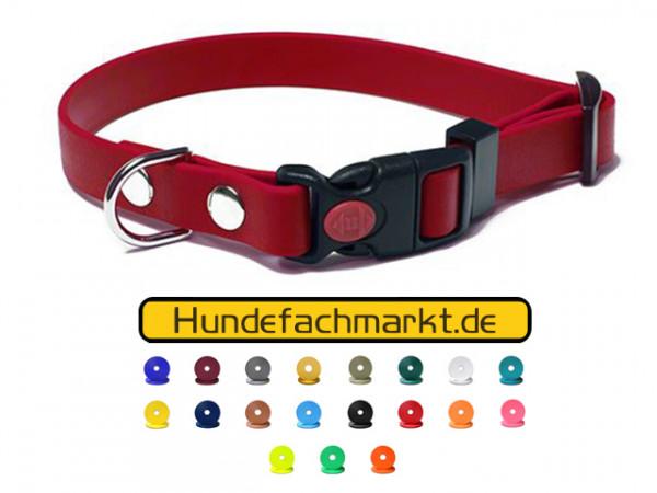 Biothane Hundehalsband mit Sicherheitsschnalle in vielen Farben - 16-25mm breit