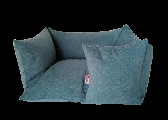 Hundebett Sofa - handgefertigt - türkis
