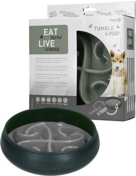 Eat Slow Tumble Feeder - Hundenapf mit Futterlabyrint - in Grau