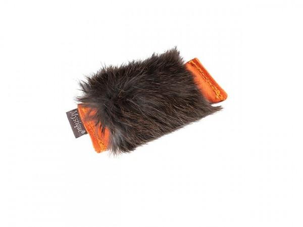 """Mini-Dummy 10 x 4cm / 33g von Mystique - Dummy """"Sniffle"""" orange mit Fell"""