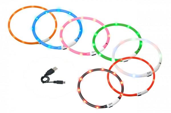Visio Light Hundeleuchthalsband - wiederaufladbar - 20 bis 70cm