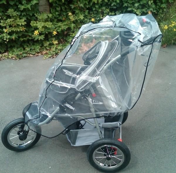 Regenhaube universal für Hundebuggy mit 3 Rädern